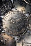 Monedas croatas del kuna Fotos de archivo libres de regalías