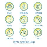 Monedas Crypto 1 Fotografía de archivo libre de regalías