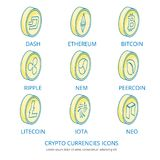 Monedas Crypto 1 Imagen de archivo libre de regalías