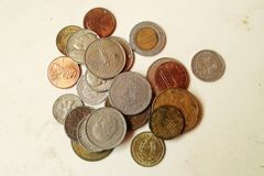 Monedas. Currencies. Royalty Free Stock Photography
