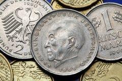 Monedas de Alemania Foto de archivo libre de regalías