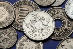 Monedas de Barbados Imagen de archivo libre de regalías