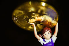 Monedas de Bitcoin Fotografía de archivo