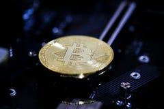 Monedas de Bitcoin Imagenes de archivo