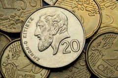 Monedas de Chipre Fotos de archivo libres de regalías