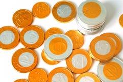Monedas de Choco Foto de archivo libre de regalías