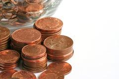 Monedas de cobre fotos de archivo libres de regalías