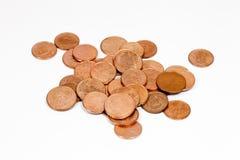 Monedas de cobre Imagenes de archivo