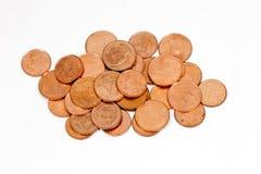 Monedas de cobre Foto de archivo