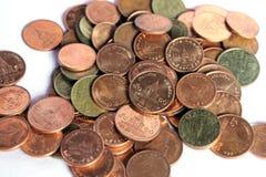 Monedas de cobre del baño Fotos de archivo