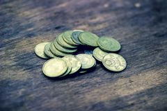 Monedas de cobre rusas soviéticas viejas foto de archivo
