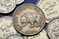 Monedas de Croacia imagenes de archivo