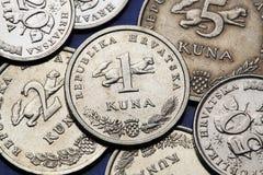 Monedas de Croacia fotografía de archivo