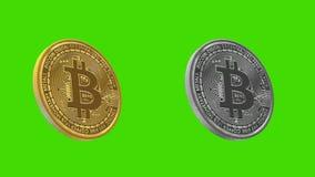 Monedas de Cryptocurrency, BITCOIN ilustración del vector