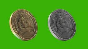 Monedas de Cryptocurrency, moneda del DUX libre illustration