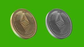 Monedas de Cryptocurrency, OBRA CLÁSICA de ETHEREUM stock de ilustración