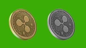 Monedas de Cryptocurrency, ondulación libre illustration