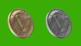 Monedas de Cryptocurrency, Vechain libre illustration