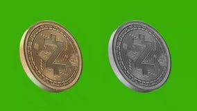 Monedas de Cryptocurrency, ZCASH libre illustration