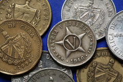 Monedas de Cuba foto de archivo