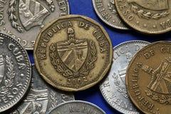 Monedas de Cuba Fotografía de archivo libre de regalías