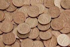 Monedas de diez centavos foto de archivo