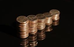 Monedas de diez centavos VI Fotografía de archivo libre de regalías