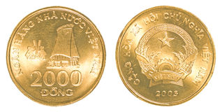 2000 monedas de Dong del vietnamita Imagen de archivo
