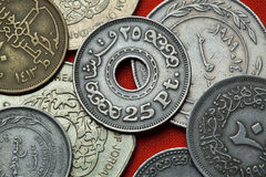 Monedas de Egipto imagen de archivo