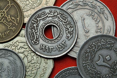 Monedas de Egipto foto de archivo