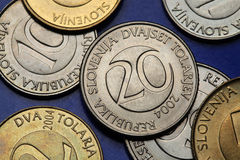 Monedas de Eslovenia Foto de archivo libre de regalías