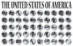 50 monedas de Estados Unidos stock de ilustración