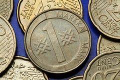 Monedas de Finlandia Imagen de archivo libre de regalías