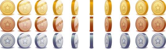 Monedas de giro Foto de archivo