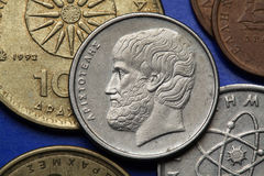 Monedas de Grecia Fotografía de archivo libre de regalías