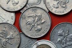 Monedas de Hong Kong imagenes de archivo