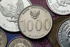 Monedas de Indonesia Fotos de archivo