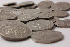 Monedas de Isla Mauricio fotografía de archivo libre de regalías