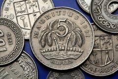 Monedas de Isla Mauricio imagen de archivo