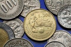 Monedas de Italia Foto de archivo libre de regalías