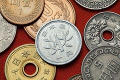 Monedas de Japón fotos de archivo
