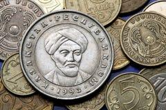 Monedas de Kazajistán Imagen de archivo libre de regalías