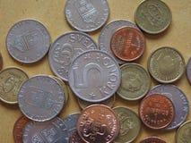 Monedas de la corona sueca, Suecia Fotos de archivo libres de regalías