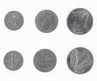 Monedas de la lira de Italan Fotos de archivo