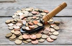 Monedas de la pala Fotos de archivo