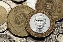 Monedas de la República Dominicana imagen de archivo libre de regalías