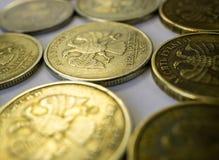 Monedas de la rublo foto de archivo libre de regalías