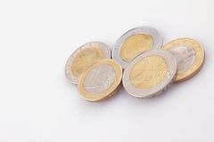 Monedas de la unión europea Fotos de archivo libres de regalías
