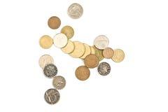 Monedas de las porciones Foto de archivo