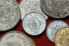 Monedas de las Seychelles fotografía de archivo